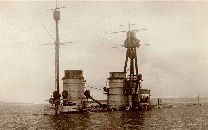 De gezonken SMS Hindenburg - cc