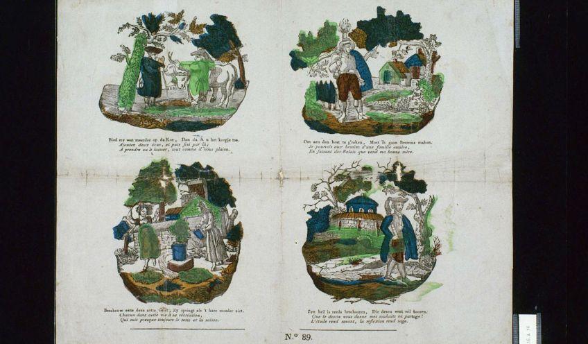 Kinderprenten tweede helft 19e eeuw collectie Zeeuwse Bibliotheek
