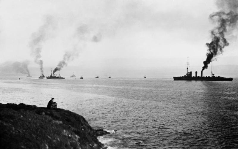 SMS Emden in Scapa Flow, 1918