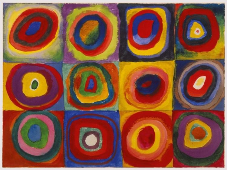 Vierkanten met concentrische cirkels, 1913
