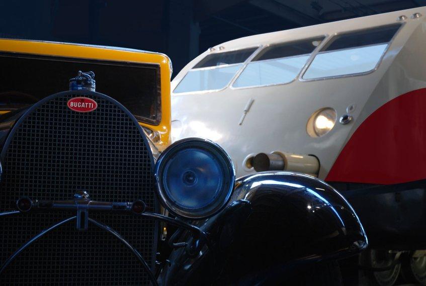 Bugatti automobiel en autorail, Cité du Train, Mulhouse Foto: Laurent Henri B/Flickr
