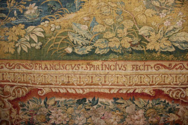 Detail uit het wandkleed van François Spiering (Prinsenhof)