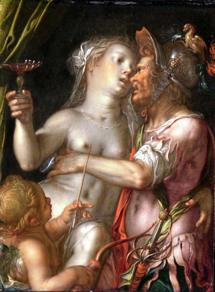 Joachim Wtewael, Mars, Venus en Cupido, ca. 1610. Stichting P. en N. de Boer, Amsterdam