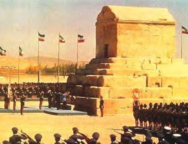 Plechtigheid bij het graf van Cyrus