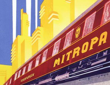 Detail affiche Mitropa slaaprijtuigen, Walter Hemming 1929