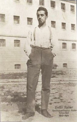 Ernst Toller in de gevangenis, begin jaren 1920