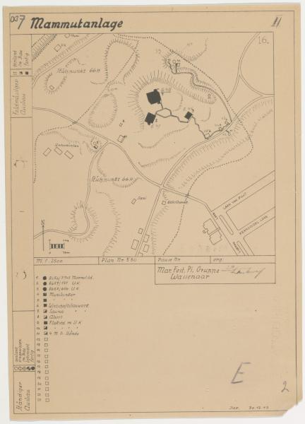 Gedigitaliseerde kaart uit Bunkerarchief (Nationaal Archief)