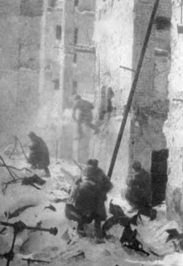 Straatgevechten in Stalingrad