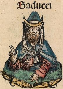 Afbeelding van een sadduceeër in de Kroniek van Neurenberg