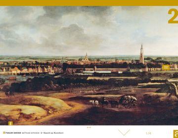 Gezicht op Amersfoort. Schilderij (1671, 2.5 x 4 meter) van Matthias Withoos was bestemd voor het stadhuis en prijkt nu in Museum Fehlite.