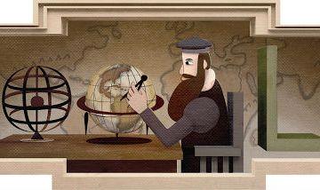 Doodle ter ere van Gerard Mercator