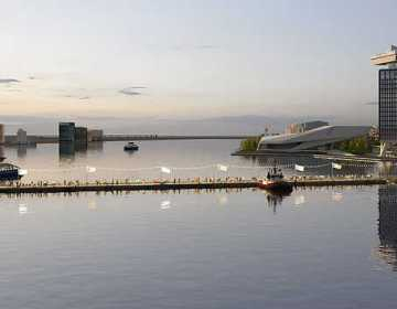 Artist impression Brug over het IJ - beeld CIIID architectural presentations