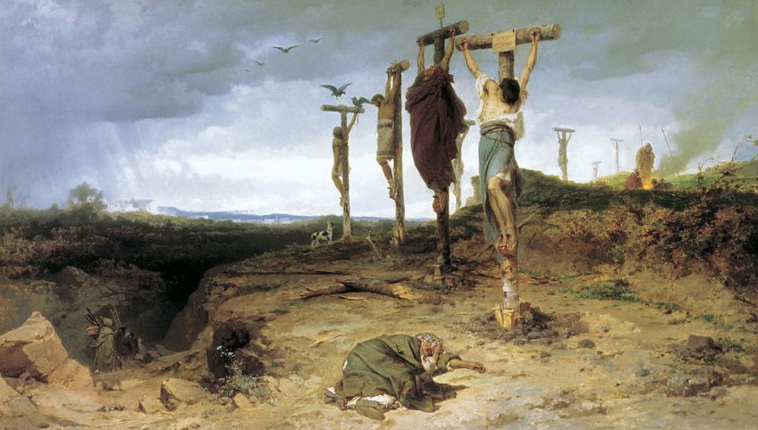 Gekruisigde slaven in het oude Rome (Fyodor Bronnikov, 1878)