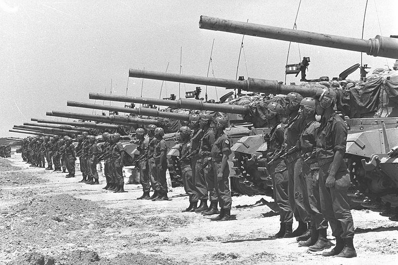 Israëlische Centurions tijdens de Zesdaagse Oorlog