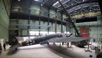 Opbouw van de Heinkel-bommenwerper