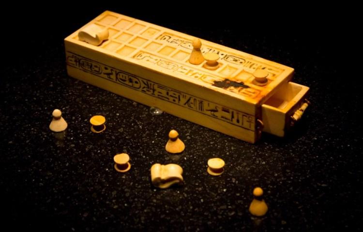 Senet-spel gevonden in de tombe van Toetanchamon