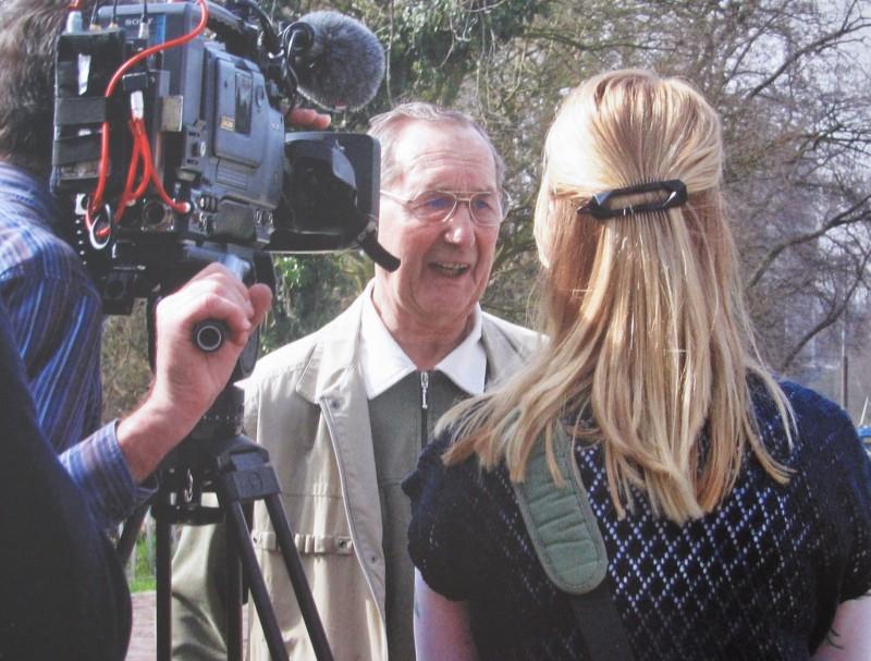 Karl-Heinz Henschel tijdens interview. Collectie I. Maan. Foto: Hans Timmerman   24 maart 2010