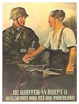 Wervingsaffiche Waffen SS voor Vlaamse vrijwilligers (Bron: Deutsches Historisches Museum)