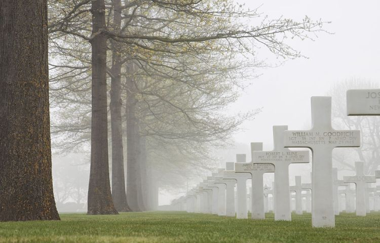 Amerikaanse begraafplaats in Margraten bij Maastricht (cc - Peterreinders)