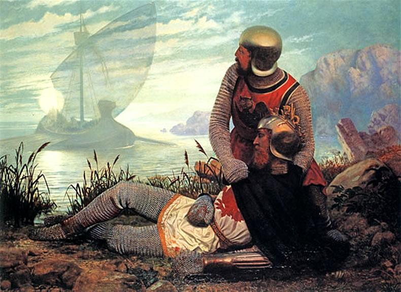 De dood van koning Arthur - John Garrick (1862)