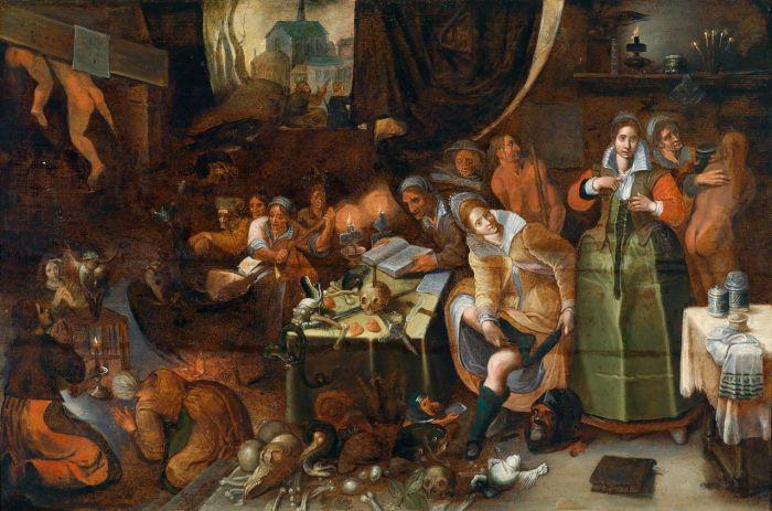 Hieronymus Francken, Heksensabbath, ca.-1585, Collectie Voges, Amsterdam
