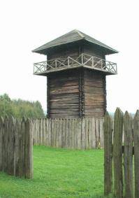 De limes in Duitsland: een palissade met torens (Rainau-Schwabsberg)
