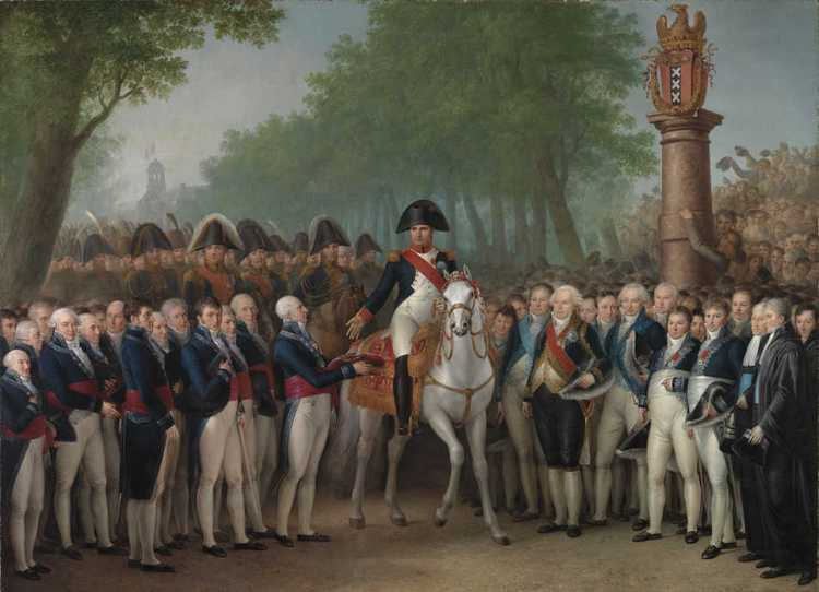 Mattheus Ignatius van Bree, De intocht van Napoleon te Amsterdam, 9 oktober 1811, 1811/12