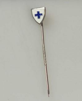 Steekspeld Nederlandse Vereniging Het Blauwe Kruis, ca. 1950, obj.nr 1511