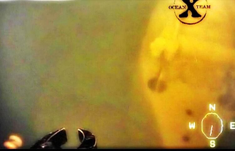 Still uit de door Ocean X Team vrijgegeven video