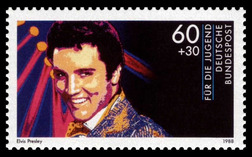 Elvis Presley op een Duitse postzegel
