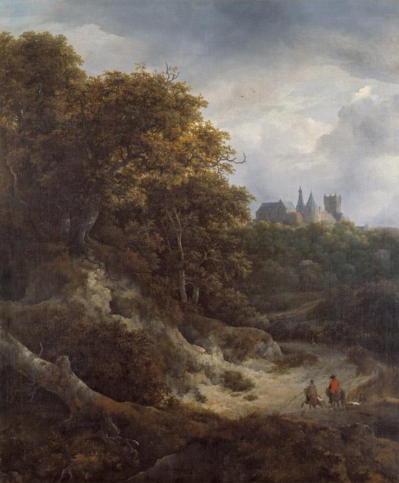Landschap met kasteel Bentheim - Jacob van Ruisdael, 1651