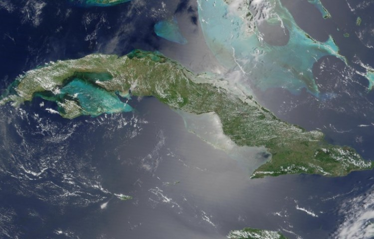 Satellietfoto van Cuba - cc