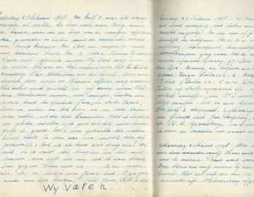 Detail uit het dagboek van Evert-Jan Nijboer.