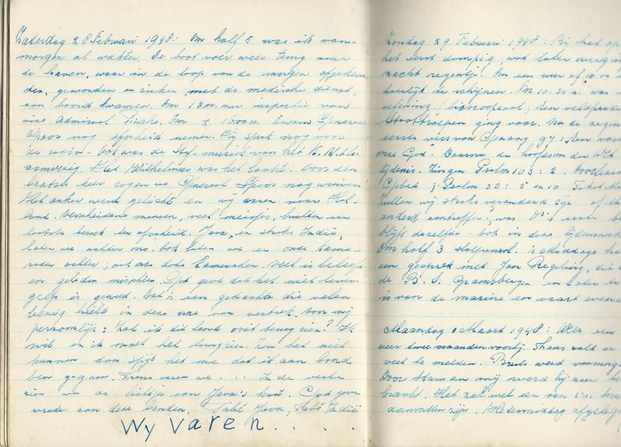 Bladzijden uit het dagboek van Evert-Jan Nijboer.