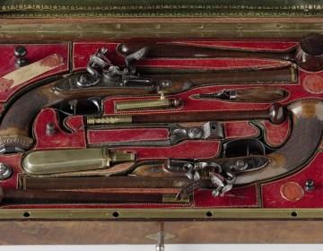 Cassette met koppel pistolen, ca. 1813-1815 (Rijksmuseum Amsterdam)
