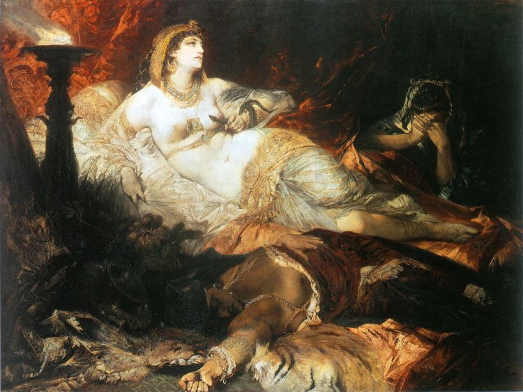 De dood van Cleopatra - Hans Makart