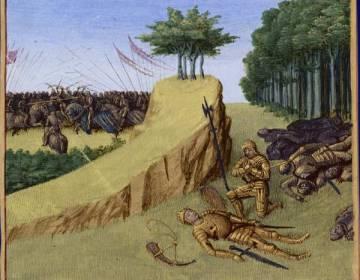 De dood van Roland, door Jean Fouquet