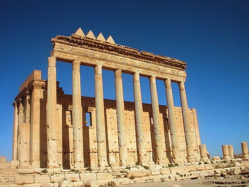 Tempel van Bel, zuilen en cella - cc