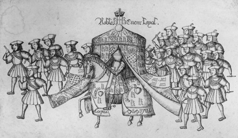 Hendrik VIII tijdens een steekspel