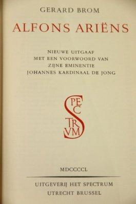 Cover van Broms biografie over Ariëns.