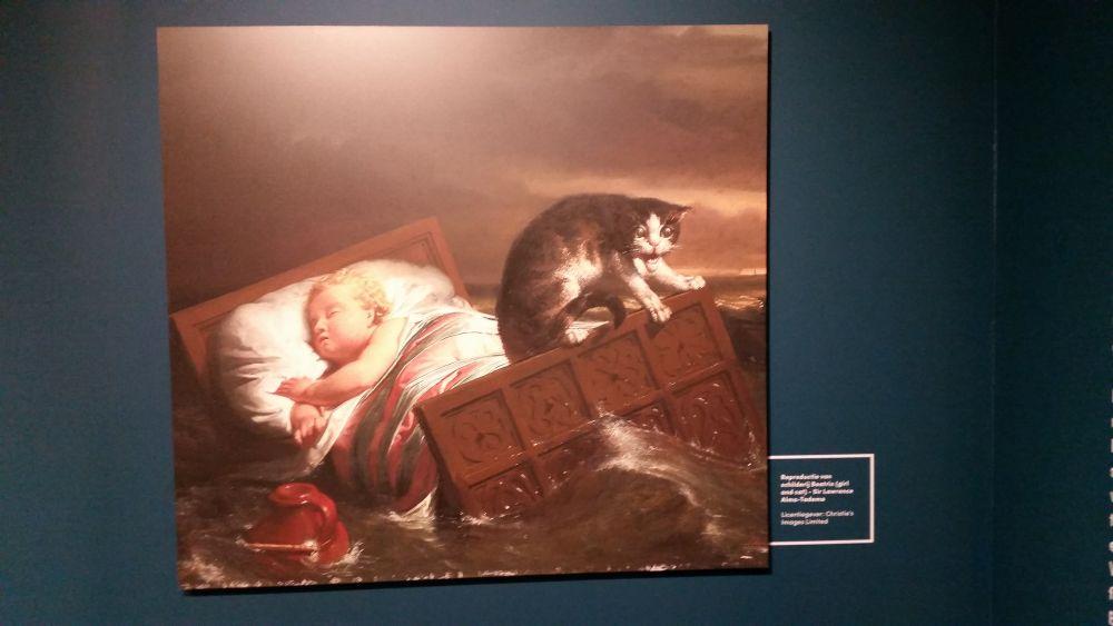 Schilderij gebaseerd op het verhaal van het vondelingetje Beatrix