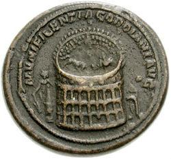 Colossus van Nero bij het Colosseum (cc - Classical Numismatic Group)
