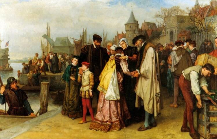 Emigratie van de Hugenoten, 1566 - Jan Antoon Neuhuys (ca. 1891)