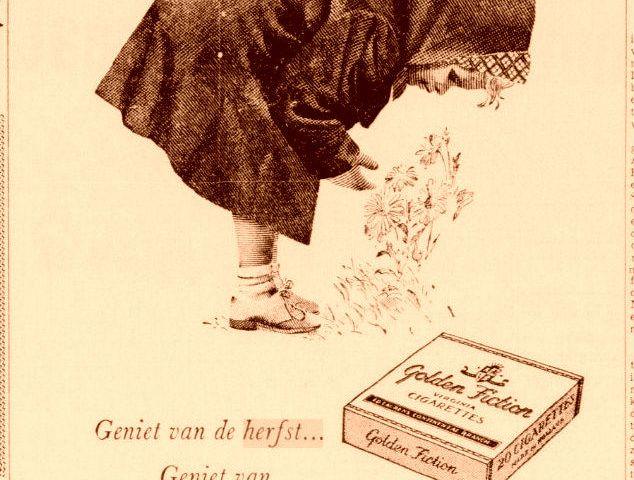 Geniet van de herfst, steek een sigaret op