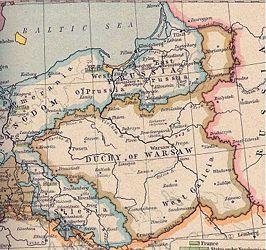 Hertogdom Warschau, een Franse vazalstaat (1809)