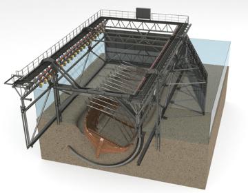 Constructie voor de lichting van de IJssselkogge (ArcheoProjecten)