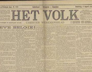 Het volk: antisocialistisch dagblad - 6 augustus 1914