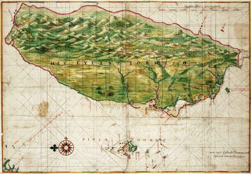 Een kaart van Nederlands-Formosa