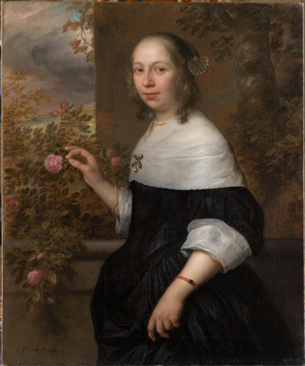 Govert Flinck, Portret van Margaretha Tulp, 1656. Collectie Six, Amsterdam