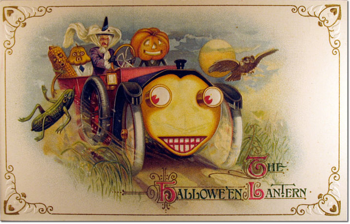 Halloween-uitje (postcardcollector.org)